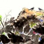 #22 2 BIRDS CHATTING